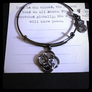 "ALEX AND ANI ""BREATH OF LIFE"" MIDNIGHT SILVER NWT!"
